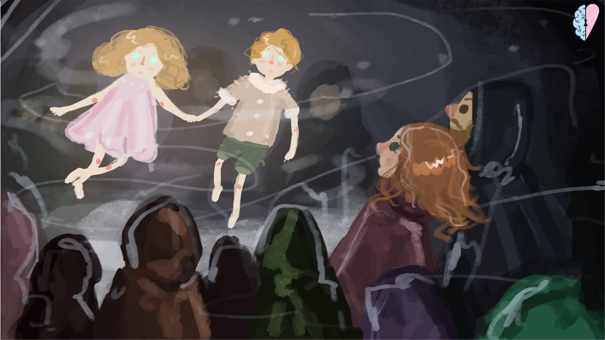 Dziady cz.II Józio iRózia duchy lekkie dzieci lecą domamy pogorczycy dwa ziarka